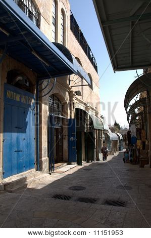 Old business street of Jerusalem