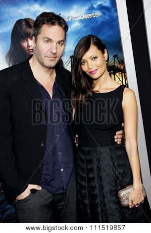 Thandie Newton and Ol Parker at the Los Angeles premiere of