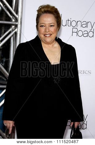 Kathy Bates at the Los Angeles premiere of 'Revolutionary Road' held at the Mann Village Theater in Westwood on December 15, 2008.