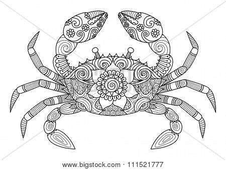 Zentangle Crab