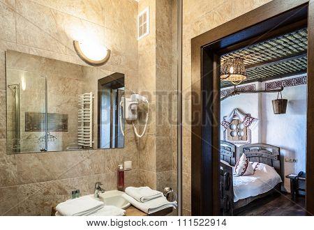 Wash-basin in the bathroom.