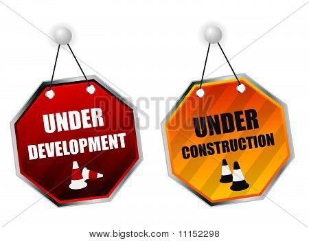 Under construction boards