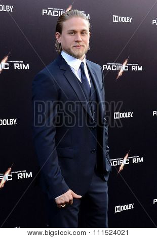 Charlie Hunnam at the Los Angeles premiere of 'Pacific Rim' held at the Dolby Theatre in Hollywood on July 9, 2013 in Los Angeles, California.