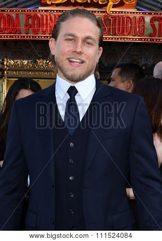Los Angeles, USA - July 9, 2013: Charlie Hunnam at the Los Angeles premiere of 'Pacific Rim' held at the Dolby Theatre in Hollywood on July 9, 2013 in Los Angeles, California.