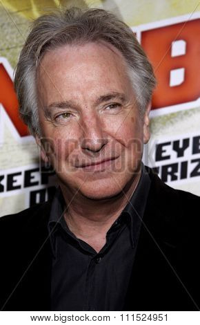 Alan Rickman at the Los Angeles premiere of 'Nobel Son' held at the Egyptian Theatre in Hollywood on December 2, 2008.