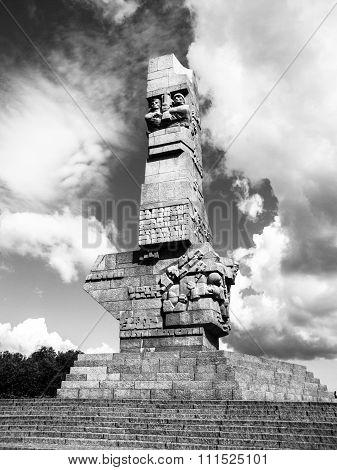 Westerplatte monument in memory of Polish defenders