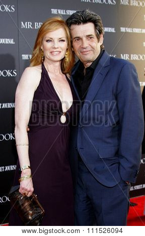 Alan Rosenberg and Marg Helgenberger at the Los Angeles Premiere of 'Mr. Brooks' held at the Grauman's Chinese Theater in Hollywood on May 22, 2007.