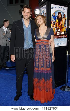 Mike Myers and Mariska Hargitay at the Los Angeles premiere of 'Love Guru' held at the Grauman's Chinese Theater in Hollywood on June 11, 2008.
