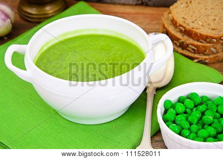Dietary Soup Cream Puree of Green Peas