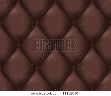 Brown Quilted Seamless Vector Pattern