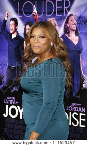 Queen Latifah at the Los Angeles premiere of 'Joyful Noise' held at the Grauman's Chinese Theatre in Hollywood on January 9, 2012.