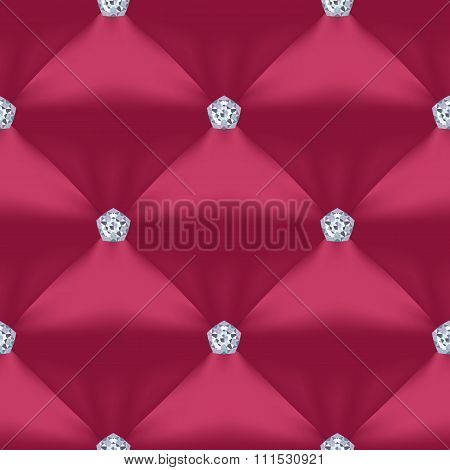 Red Violet Quilted Seamless Vector Pattern