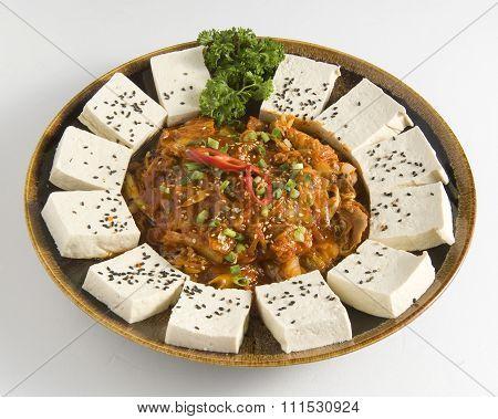 Kimchi and tofu