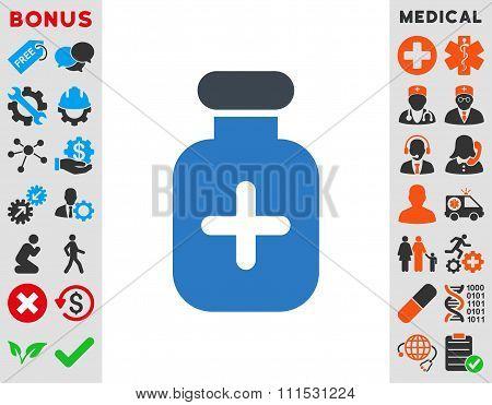 Medication Vial Icon