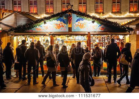 Busy Christmas Market