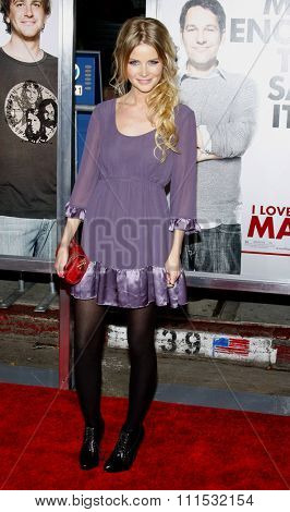 Anita Briem at the Los Angeles premiere of 'I Love You, Man' held at the Mann's Village Theater in Westwood on March 17, 2009.