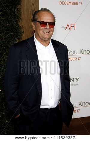 Jack Nicholson at the Los Angeles premiere of 'How Do You Know' held at the Regency Village Theatre in Westwood on December 13, 2010.