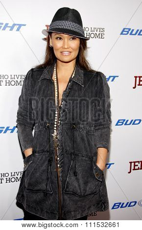 Tia Carrere at the Los Angeles premiere of 'Jeff, Who Lives At Home' held at the DGA Theatre in Los Angeles on March 7, 2012.