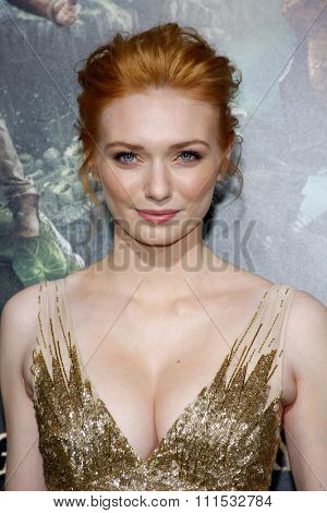 Eleanor Tomlinson at the Los Angeles premiere of