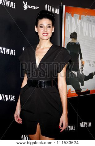 Natascha Berg at the Los Angeles premiere of 'Haywire' held at the DGA Theater in Hollywood on January 5, 2012.