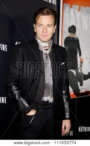 Ewan McGregor at the Los Angeles premiere of 'Haywire' held at the DGA Theater in Hollywood on January 5, 2012.
