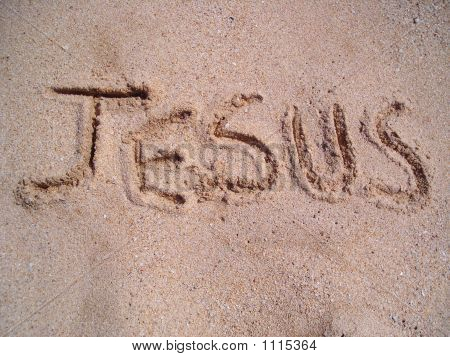 Jesus Written On Sand