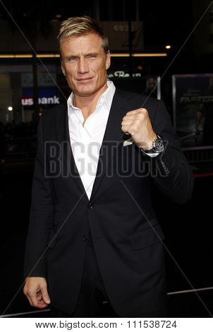 Dolph Lundgren at the Los Angeles premiere of 'Faster