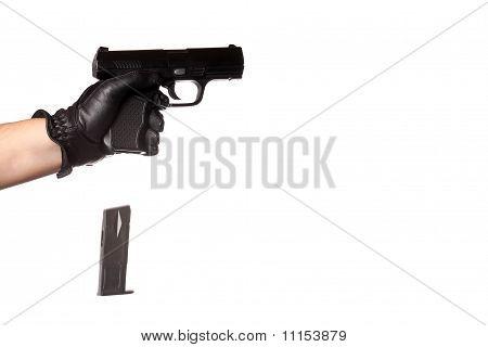 Dropping A Handgun Clip