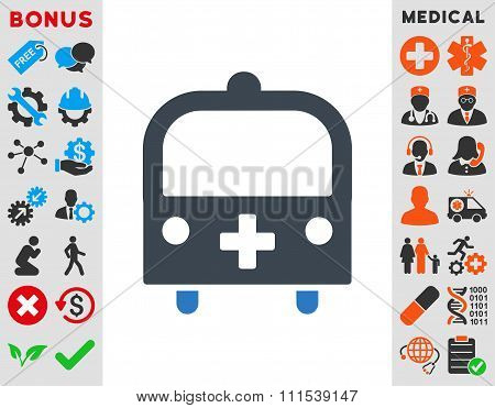 Medical Bus Icon