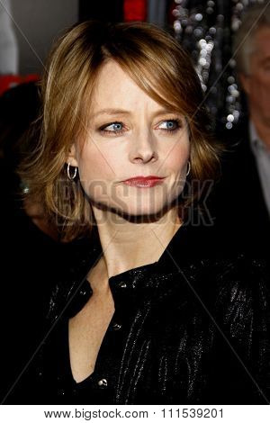 Jodie Foster at the Los Angeles premiere of Edge Of Darkness held at the Grauman Chinese Theatre in Hollywood on January 26, 2010.