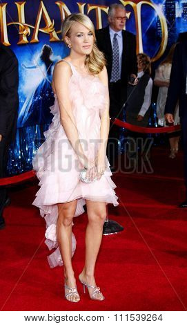 Carrie Underwood attends the World Premiere of
