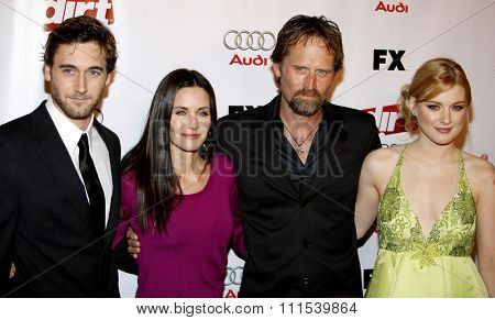 Ryan Eggold, Courteney Cox, Jeffrey Nordling and Alexandre Breckenridge attend the Season Two Premiere Screening of