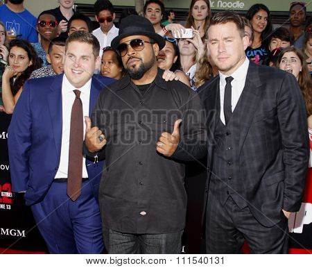 Channing Tatum, Ice Cube and Jonah Hill at the Los Angeles premiere of