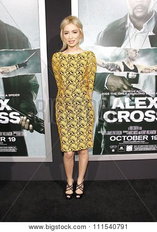 Christian Serratos at the Los Angeles premiere of 'Alex Cross' held at the ArcLight Cinemas Cinerama Dome in Los Angeles on October 15, 2012.