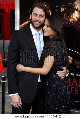 Jordana Brewster and Andrew Form at the Los Angeles premiere of 'A Nightmare On Elm Street' held at the Grauman's Chinese Theatre in Hollywood on April 27, 2010.