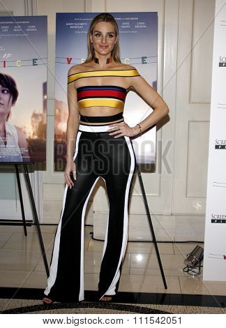 Katie Nehara at the Los Angeles premiere of 'Alex of Venice' held at the London Hotel in West Hollywood, USA on April 8, 2015.