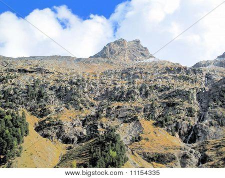 Pontresina, Switzerland and Roseg Glacier Bed
