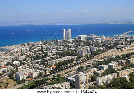 View Of Haifa From Mount Carmel, Israel