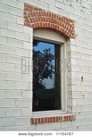 window and bricks