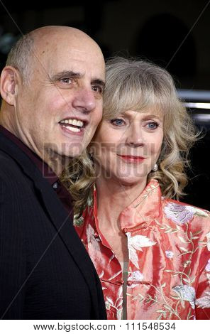 Jeffrey Tambor and Blythe Danner at the Los Angeles Premiere of 'Paul' held at the Grauman's Chinese Theater in Hollywood, USA on March 14, 2011.