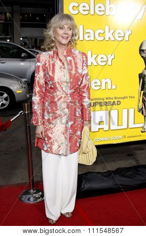 Blythe Danner at the Los Angeles Premiere of 'Paul' held at the Grauman's Chinese Theater in Hollywood, USA on March 14, 2011.