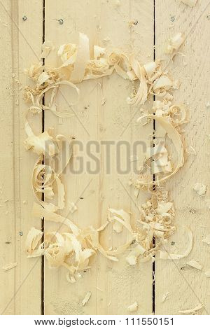 frame made of sawdust
