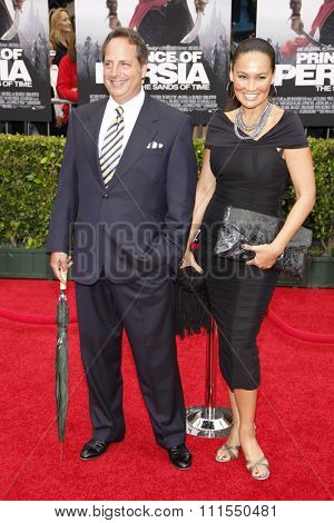 Jon Lovitz and Tia Carrere at the Los Angeles premiere of 'Prince Of Persia: The Sands Of Time' held at the  Grauman's Chinese Theatre in Hollywood, USA on May 17, 2010.