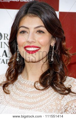 Alessandra Mastroianni at the 2012 Los Angeles Film Festival premiere of 'To Rome With Love' held at the Regal Cinemas L.A. LIVE Stadium in Los Angeles, USA on June 14, 2012.