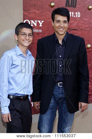 Ralph Macchio and Daniel Macchio at the Los Angeles premiere of 'The Karate Kid' held at the Mann Village Theater in Westwood, USA on June 7, 2010.
