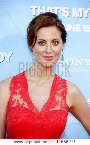 Eva Amurri Martino at the Los Angeles premiere of 'That's My Boy' held at the Westwood Village Theater in Los Angeles, USA on June 4, 2012.