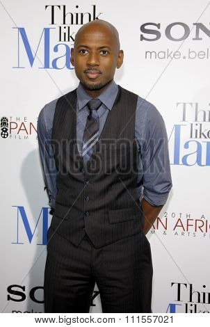 Romany Malco at the Los Angles premiere of 'Think Like a Man' held at the ArcLight Cinemas in Hollywood, USA on February 9, 2012.