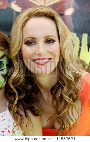 Leslie Mann at the Los Angeles premiere of 'ParaNorman' held at the Universal CityWalk in Universal City, USA on August 5, 2012.