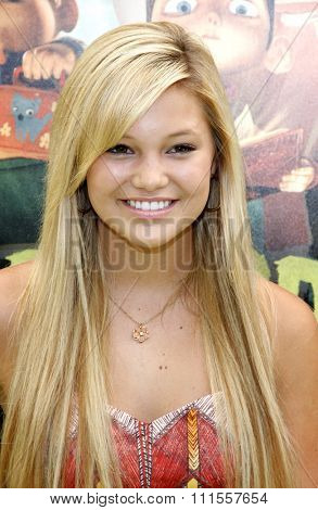 Olivia Holt at the Los Angeles premiere of 'ParaNorman' held at the Universal CityWalk in Universal City, USA on August 5, 2012.