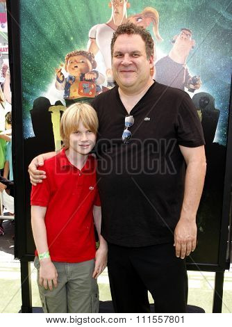 Jeff Garlin at the Los Angeles premiere of 'ParaNorman' held at the Universal CityWalk in Universal City, USA on August 5, 2012.